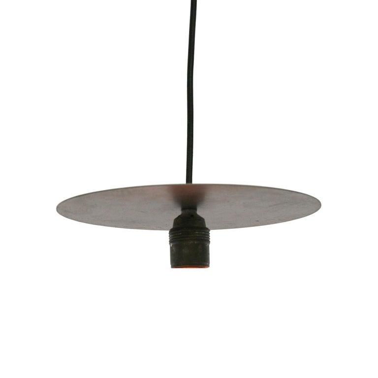 Iron Metal Plate Vintage Industrial Pendant Lights For Sale