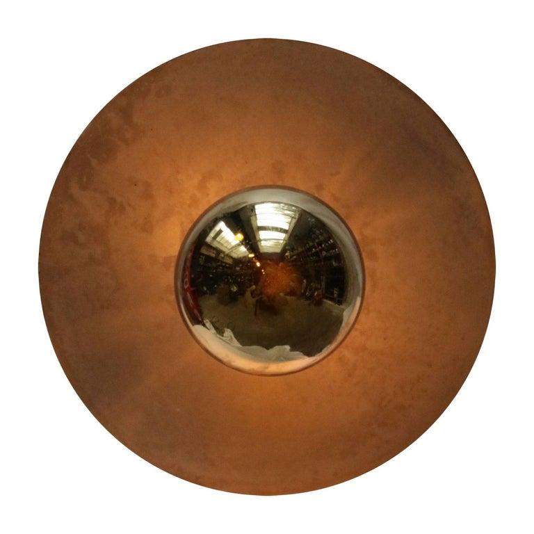 Metal Plate Vintage Industrial Pendant Lights For Sale 1
