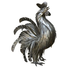 Metal Rooster Sculpture by Jarry, France, circa 1970
