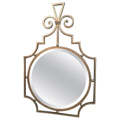 Metal Scroll Faux Gilt Mirror