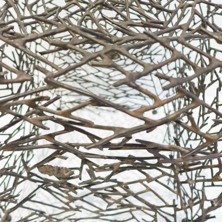 Silver Richard Filipowski Metal Sculpture,