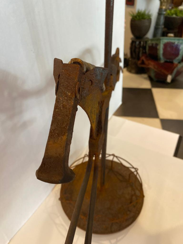 Metal Sculpture of a Horse Umbrella Stand by William Bill Heise For Sale 1