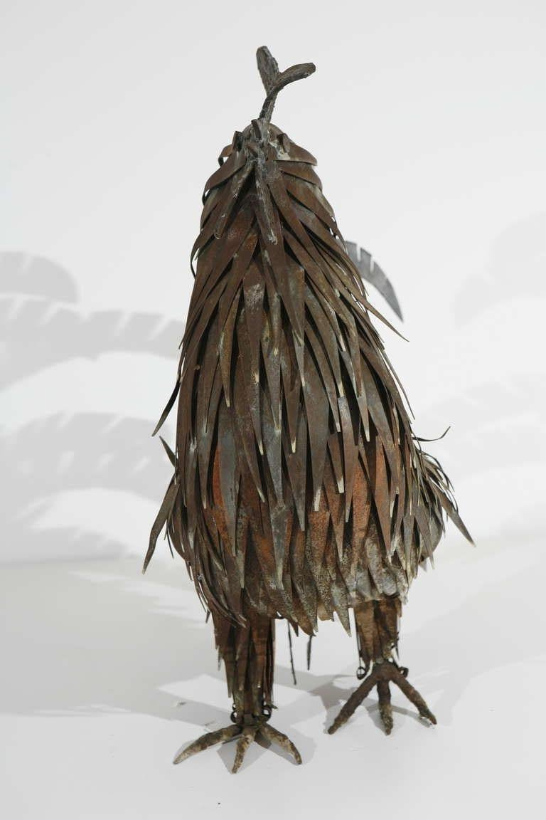 Metal Sculpture of a Rooster In Good Condition For Sale In Washington, DC