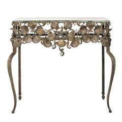 Metal Shell Console Table