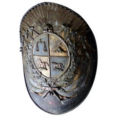 Metal Shield/Crest, circa 1850