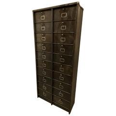 Metal Vintage Filing Cabinet, France