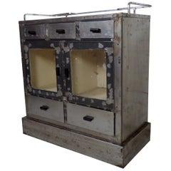 Metal Vintage Industrial Cabinet