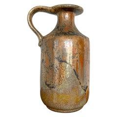 Metallic Gold Ceramano Vase, West Germany