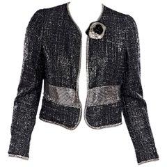 Metallic Versace Tweed Jacket
