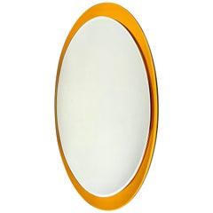 Metalvetro Galvorame Oval Wall Mirror, Italy, 1970s