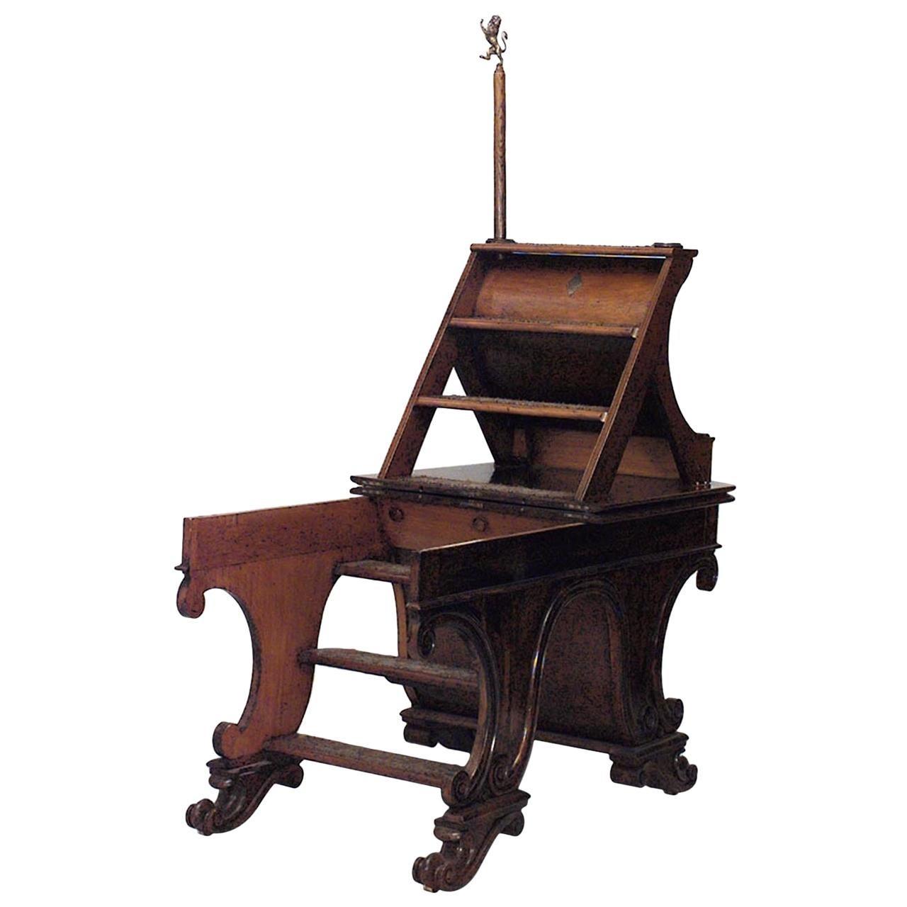 English Regency Metamorphic Library Ladder