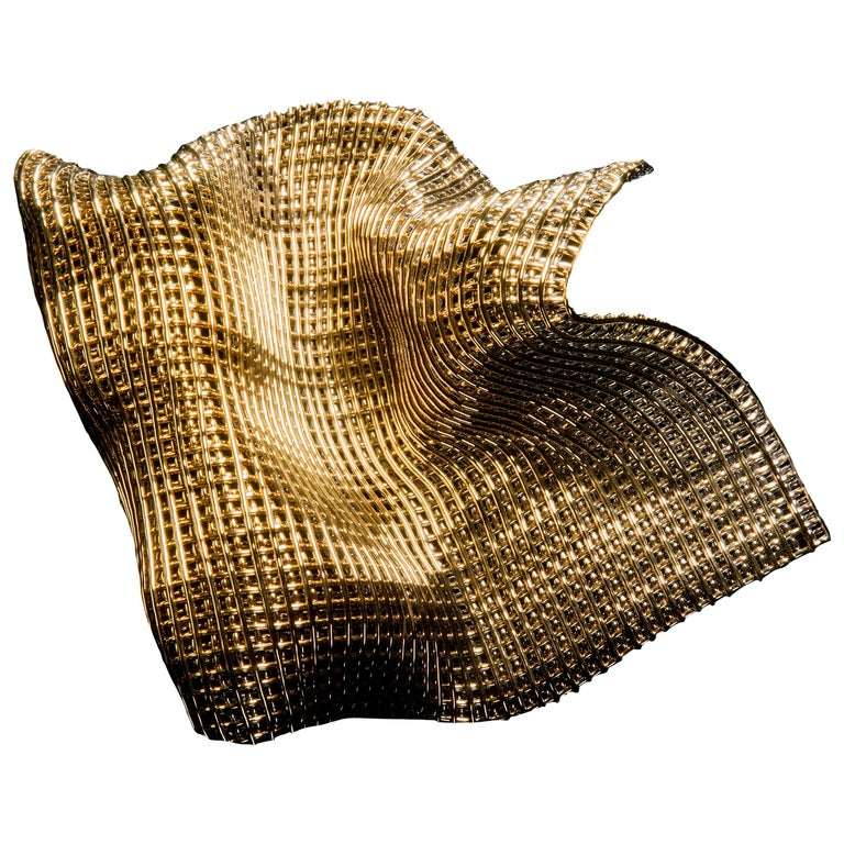 Metamorphosis I, a Unique Gold and Glass Sculpture by Cathryn Shilling For Sale