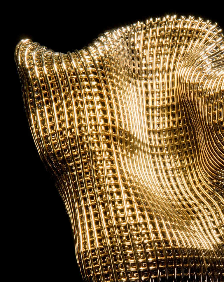 Organic Modern Metamorphosis I, a Unique Gold and Glass Sculpture by Cathryn Shilling For Sale