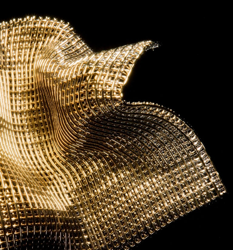 British Metamorphosis I, a Unique Gold and Glass Sculpture by Cathryn Shilling For Sale