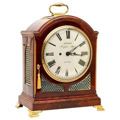 Metcalfe London 19th Century George III Mahogany Bracket Clock