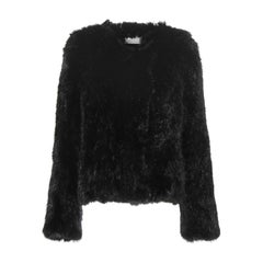 Meteo by Yves Salomon Knitted Rabbit-Fur Jacket