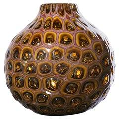 Meteor Murrine Sienna Round Vase by Siemon & Salazar - Available Now