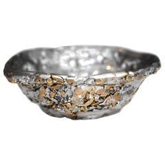 """Meteorite Cup XLA1"", Melted Pewter and Brass Grains"
