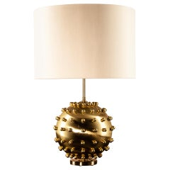 Meteorite Table Lamp, Solid Brass Sculptural Body, Florence Manufacturing