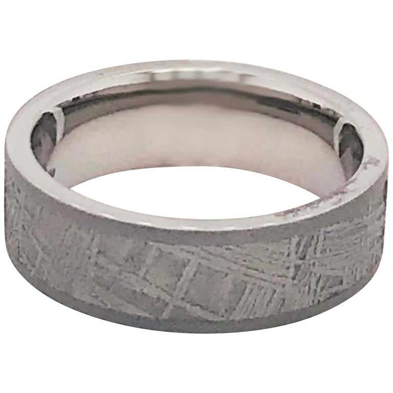 Meteorite Titanium Men's Band, Distressed Finish Comfort Fit Wedding Ring, Band For Sale