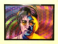 John Lennon 3d moving image art work pexi glass art unique signed stormzy