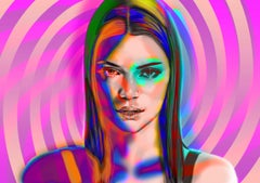 Kendall Jenner imited edition print of 10 art high profile personally signed