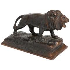 Metro-Goldwyn Mayer / MGM Lion 1930s Bronze Statuette Paperweight