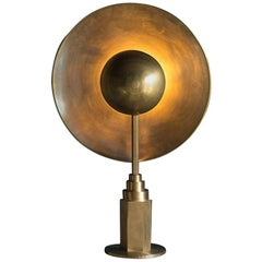 Metropolis Brass Table Lamp by Jan Garncarek