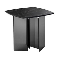 Metropolis Black Ceramic Side Table, Designed by Giuseppe Maurizio Scutellà