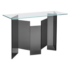 Metropolis Glass Console, Designed by Giuseppe Maurizio Scutellà, Made in Italy