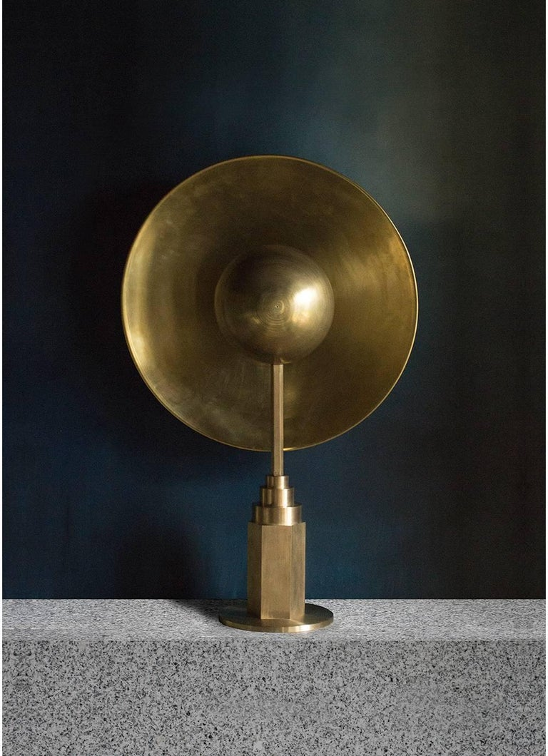 Metropolis Noir, Brass Limited Edition Table Lamp by Jan Garncarek For Sale 6