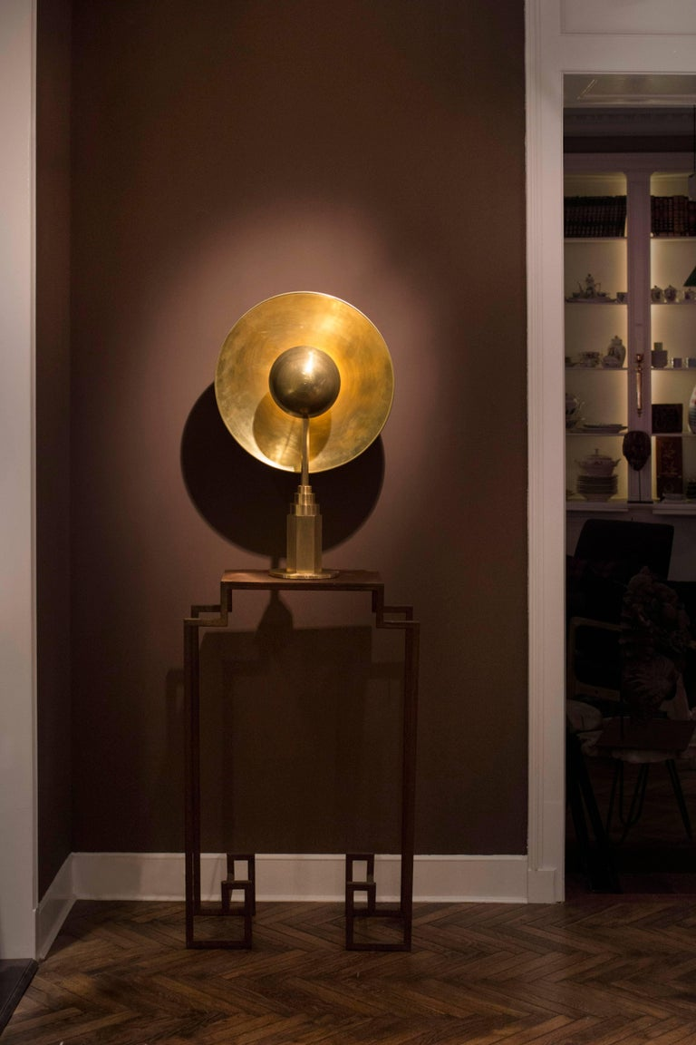 Metropolis Noir, Brass Limited Edition Table Lamp by Jan Garncarek For Sale 8