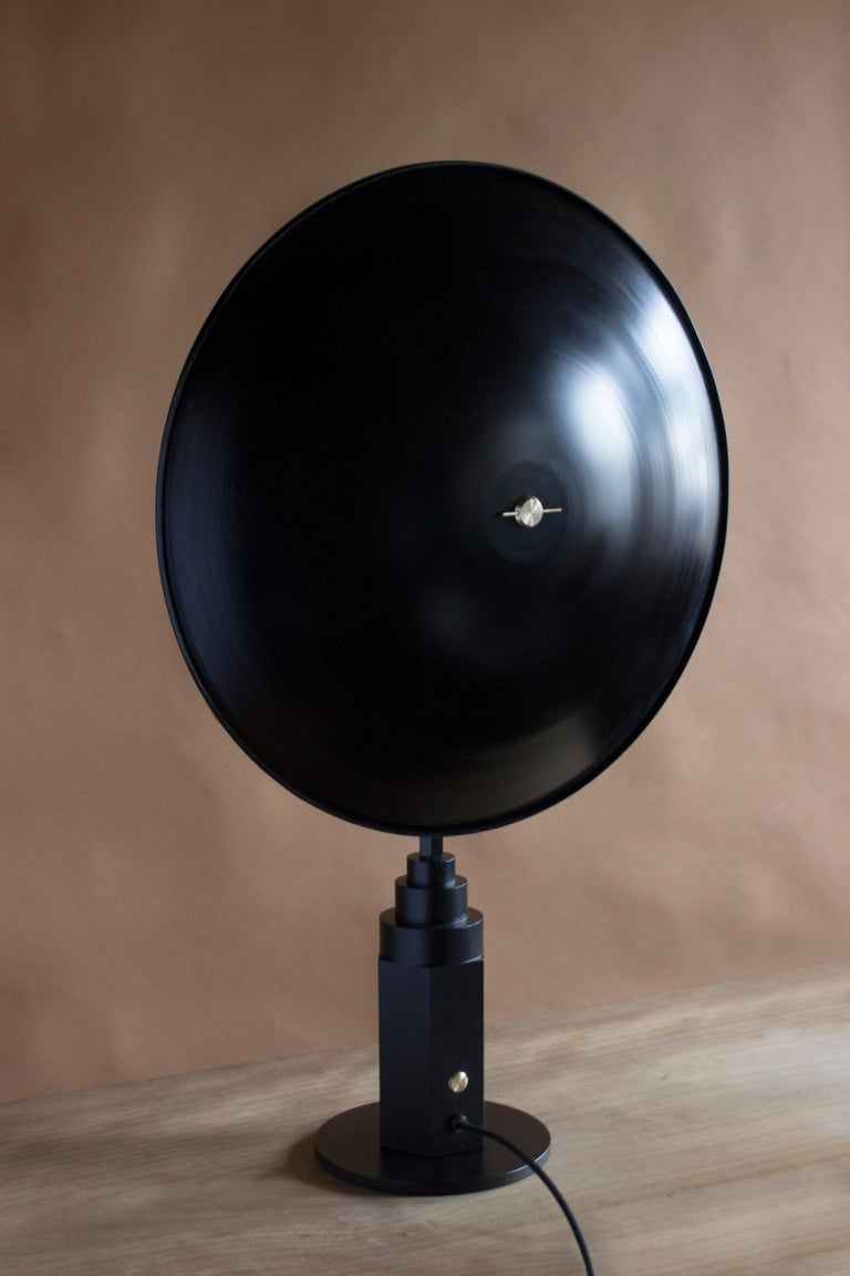 Post-Modern Metropolis Noir, Brass Limited Edition Table Lamp by Jan Garncarek For Sale