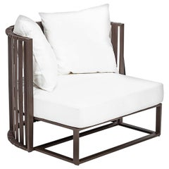 Metropolitan Enveloping Armchair in Gold by Braid Outdoor