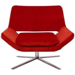 Metropolitan Orange Velvet Armchair by Jeffrey Bernett for B&B Italia