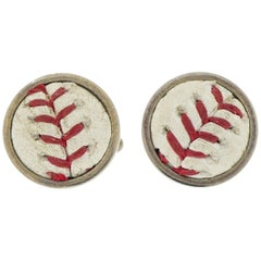 Met's Baseball Sterling Silver Cufflinks