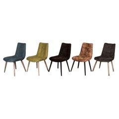 Metz Scandinavian Style Dining Chairs, 20th Century