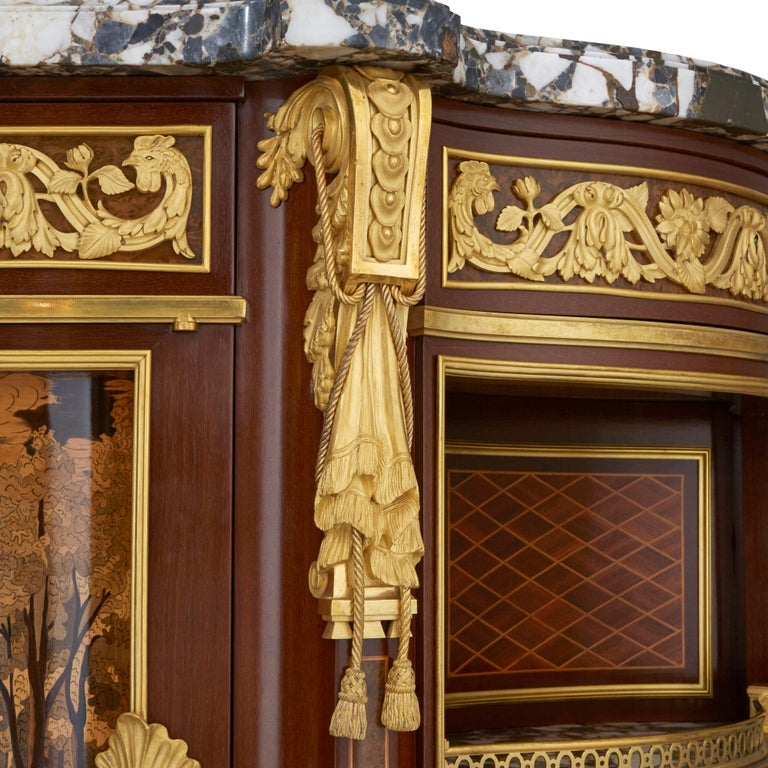 Louis XV 'Meuble Soleil', Gilt Bronze-Mounted Marquetry Commode by Francois Linke For Sale