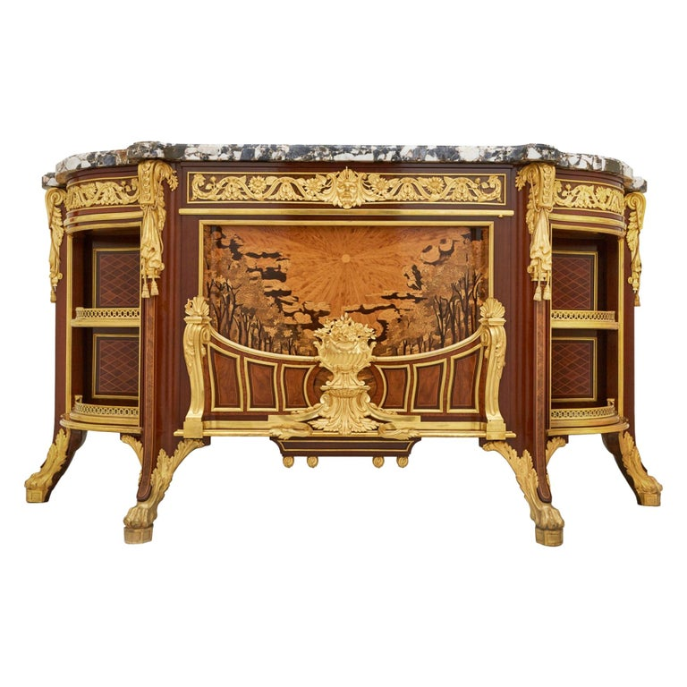 'Meuble Soleil', Gilt Bronze-Mounted Marquetry Commode by Francois Linke For Sale