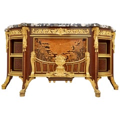 'Meuble Soleil', Gilt Bronze-Mounted Marquetry Commode by Linke and Alix