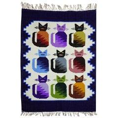 Mexican 9 Kitten Wool Handmade Textile