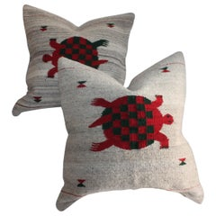 Mexican /American Indian Weaving Pillows, Pair