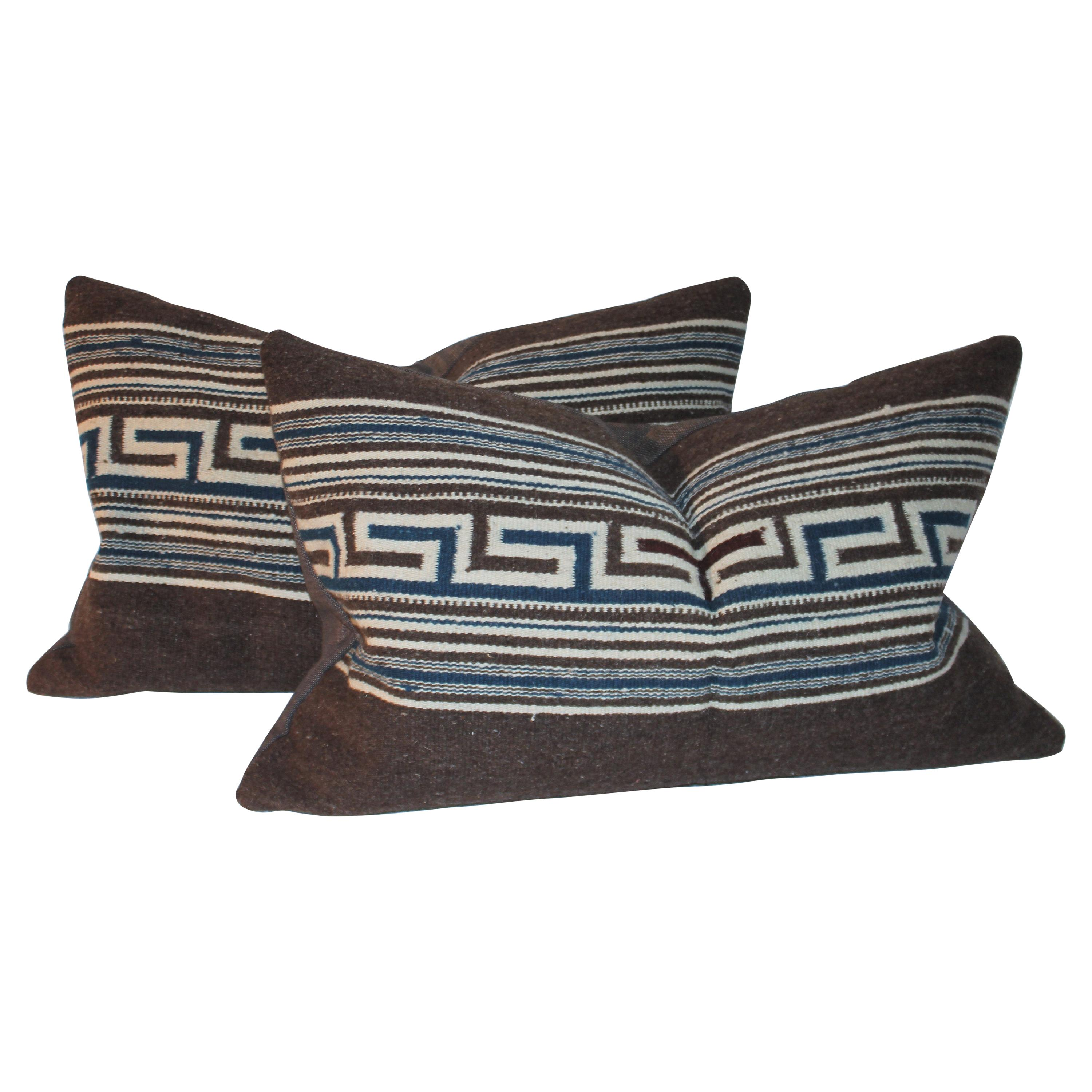Mexican / American Indian Weaving Pillows, Pair