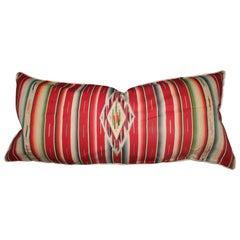 Mexican American Serape Big Bolster Pillow
