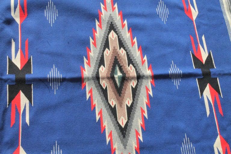 Adirondack Mexican / American Serape in Unusual Colors For Sale