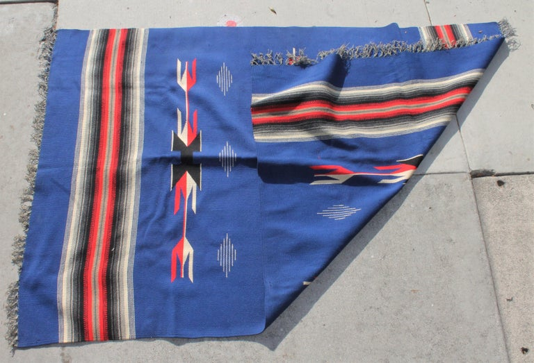 Hand-Crafted Mexican / American Serape in Unusual Colors For Sale