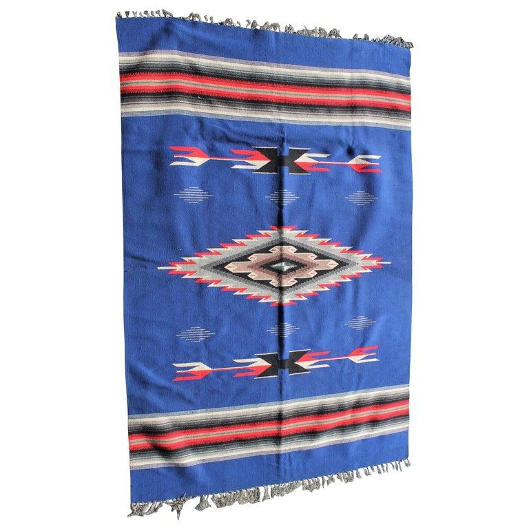 Mexican / American Serape in Unusual Colors For Sale