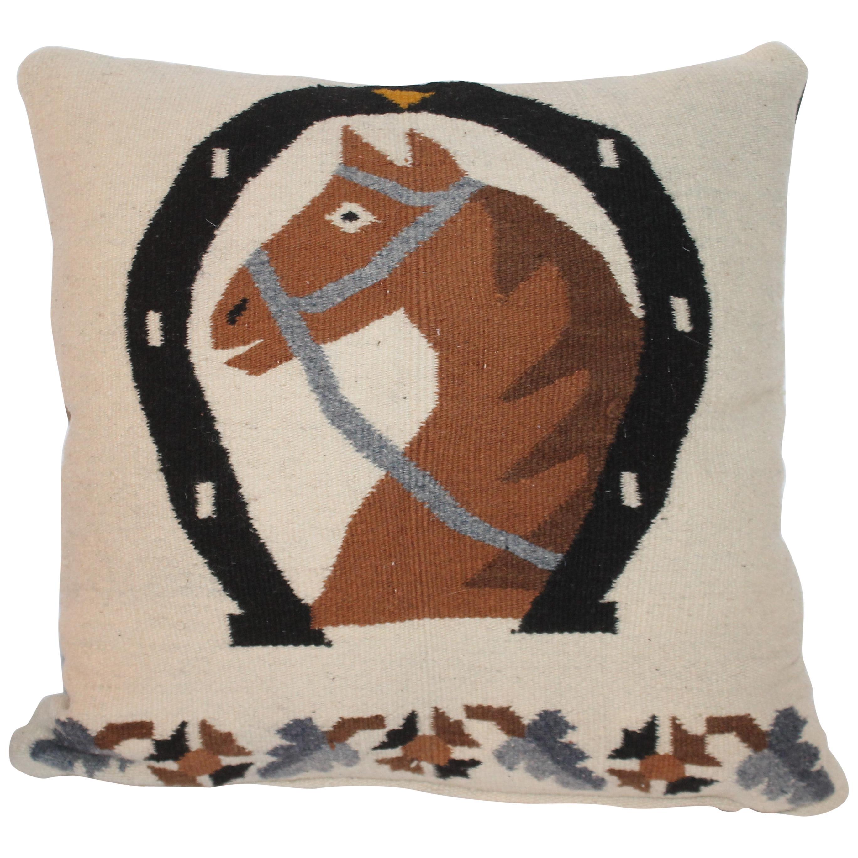 Mexican / American Weaving Horse Pillow