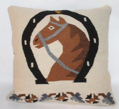 Mexican / American Weaving Horse Pillow