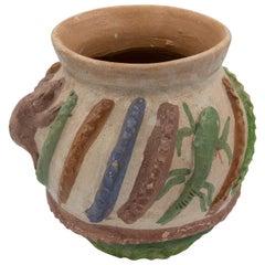 Mexikanische antike Dolores Porras Ton Töpferwaren Volkskunst Terrakotta Gefäß Vase